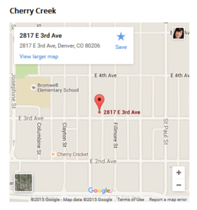 Cherry Creek North Map