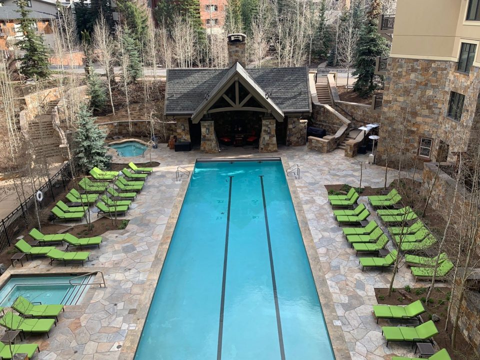 Outdoor pool at the Four Seasons in Vail